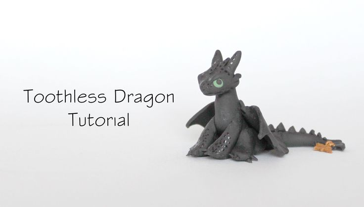Polymer Clay: Toothless Dragon from How To Train Your Dragon (+playlist)