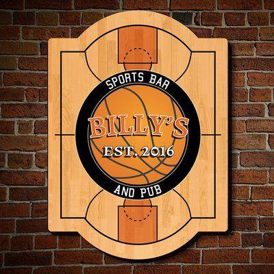 Home Wet Bar Nothing But Net Custom Sports Bar Sign Wall Décor Size: Medium