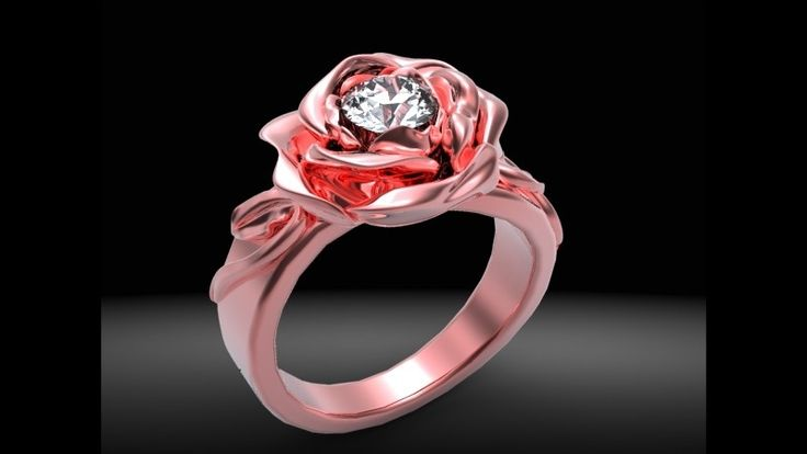 Red Rose Diamond Ring just love everthing about this ring