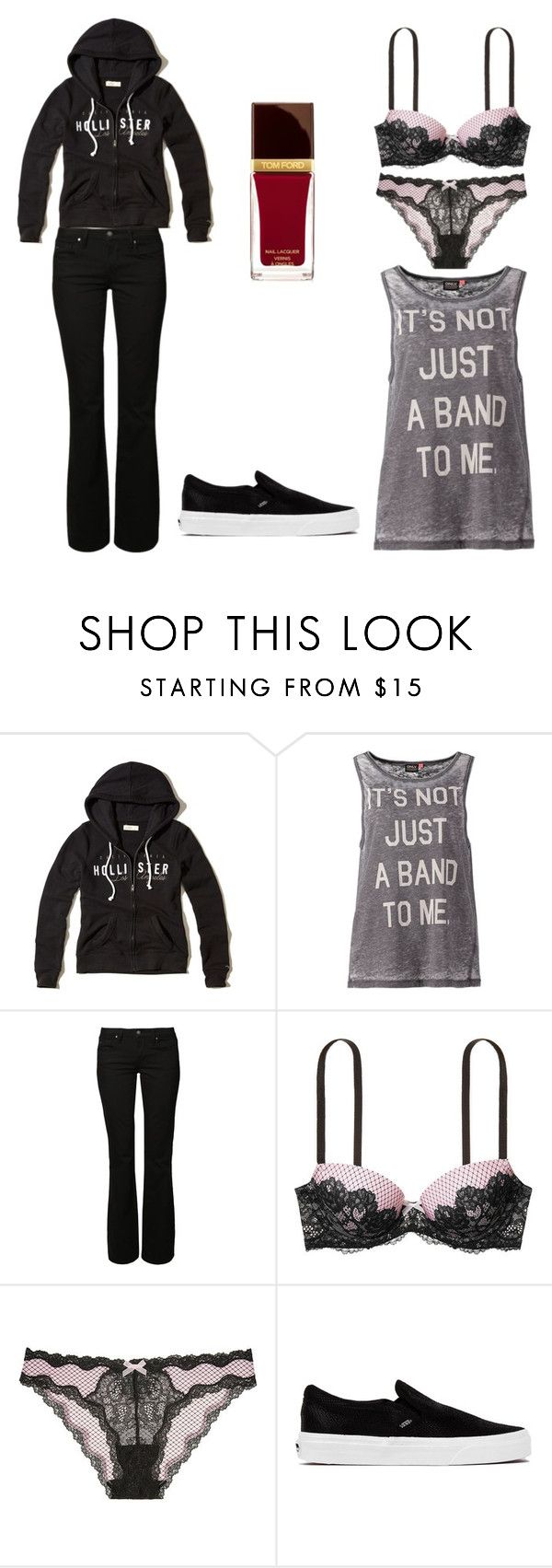 """""""Untitled 5215"""" by rosamariagonzales ❤ liked on Polyvore featuring Hollister Co., ONLY, Mavi, Victoria's Secret, Vans and Tom Ford"""