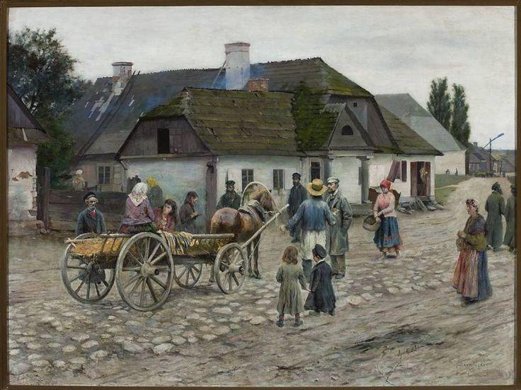 Władysław Podkowiński -Ulica w Siennicy