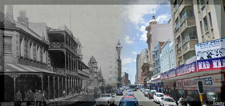 Pritchard Street - then and now.
