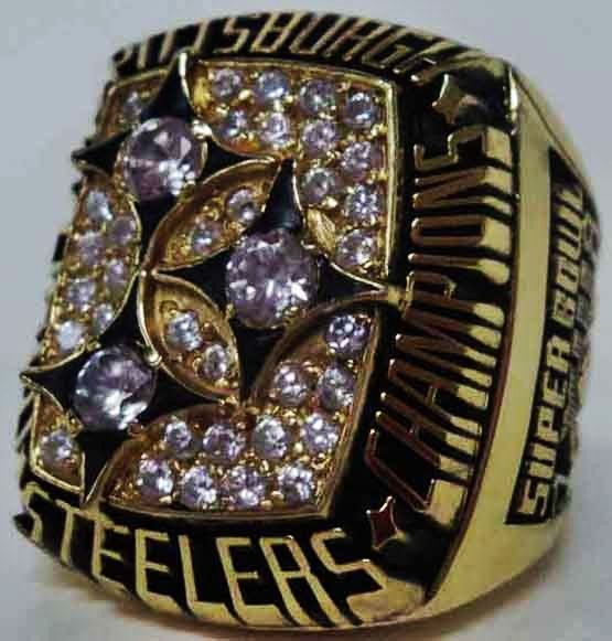 1978 Pittsburgh Steelers NFL Super Bowl Championship Replica Rings.