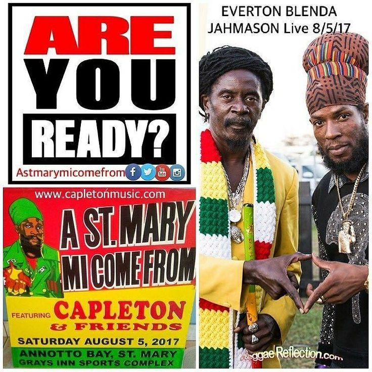 """Big Tings a Gwaan in #Jamaica tomorrow!  Give thanks @capletonmusic @astmarymicomefrom  for including our  #ReggaeReflection   Rebel Salute 2016.. #Reposting @astmarymicomefrom """"Live performance by #EvertonBlenda #Jahmason and many more 8/5/17 at #AStMaryMiComeFrom 13th Anniversary - Gray's Inn Sports Complex Annotto Bay St Mary Jamaica. (Tickets will only be sold @ the venue on the day of show only). #TellAFriend  #Capleton #KingShango #Charity #givebacktothecommunity #philanthropy…"""