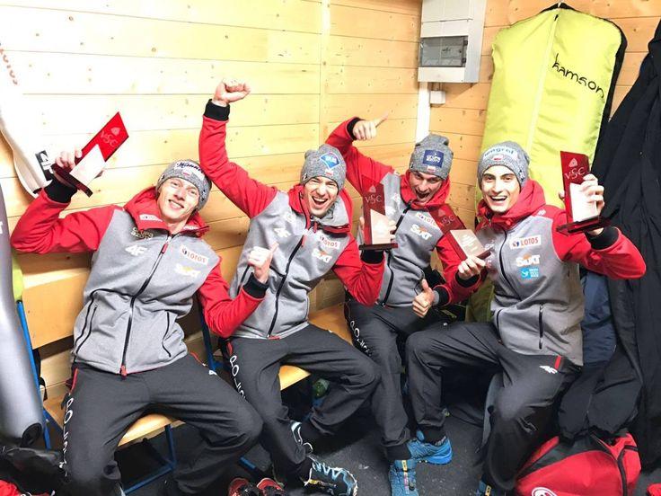 Skoki. Małysz zachwycony triumfem polskich skoczków w drużynówce | Sporty Zimowe  w Sport TVN24