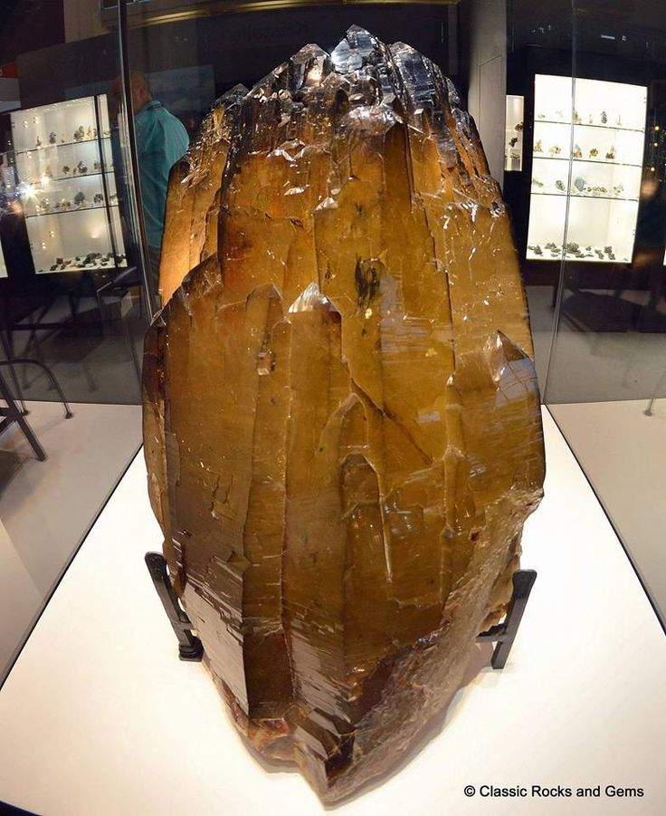 Huge bi Terminated Citrine Crystal with Smoky Quartz Terminations Size approx. 1m - from Brazil.