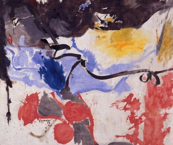 Helen Frankenthaler (American, 1928–2011)     Hotel Cro-Magnon, 1958, Milwaukee Art Museum