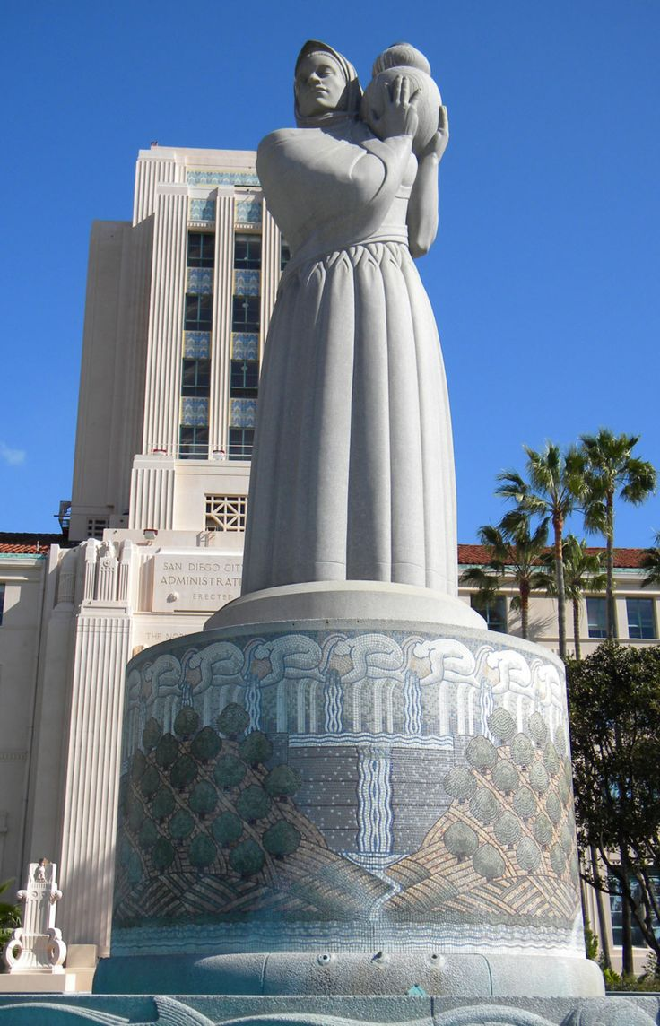 "Helen M. Towle Statue, San Diego, California The ""Guardian"