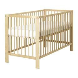 "GULLIVER Crib - IKEA ~ $129 ~Takes a 27 1/2x52"" mattress. ~Adjusts to 2 different heights, and one side is removable to convert to a toddler bed."