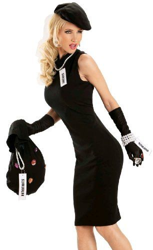 Women's Cat Burglar Costumes - The Pink Panther has notning on her!