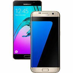 SmartphoneSamsung Galaxy S7 Edge 32GB Desbloqueado Dourado + Smartphone Samsung Galaxy Novo A5 - Dourado