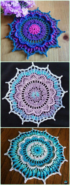 Crochet Mathilde Doily Free Pattern - Crochet Doily Free Patterns
