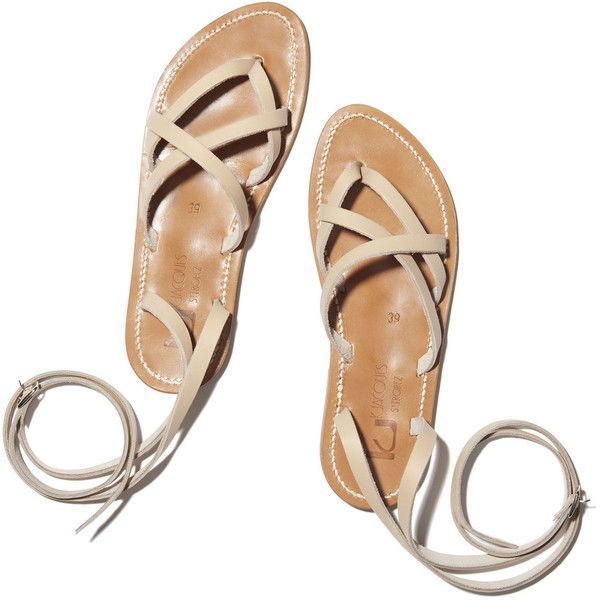 Zenobie Sandals ❤ liked on Polyvore featuring shoes, sandals, roman sandals, sexy sandals, sexy shoes, greek sandals and beige shoes