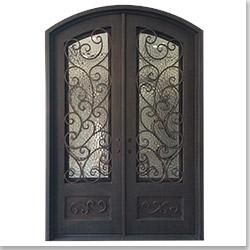 Glass Doors Wrought Iron And Ferns On Pinterest