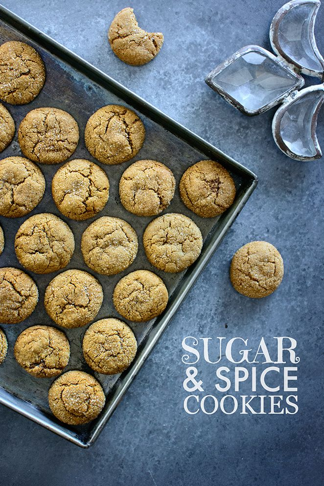 Soft and chewy sugar and spice cookies made with molasses and five spices | Kailley's Kitchen