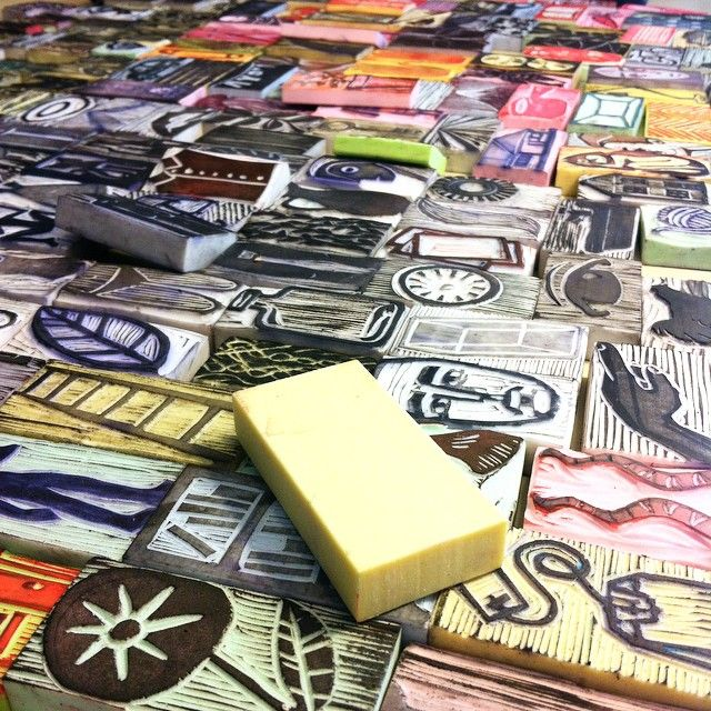 hand carved rubber stamps www.lustre.cl
