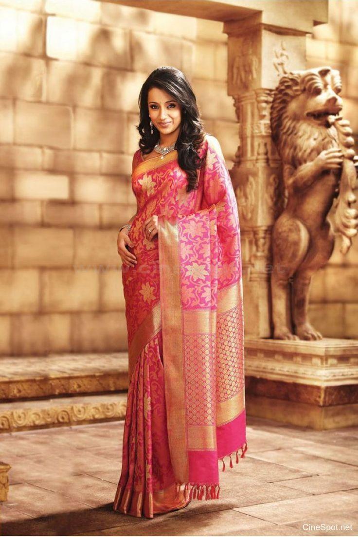 Trisha in Pothys Silk Saree Photoshoot (10)