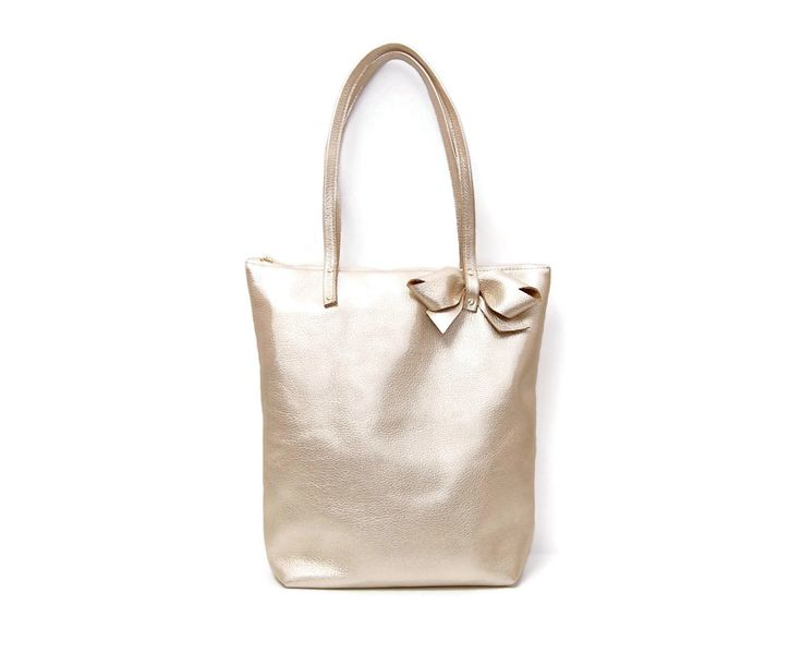 Champagne Gold Tote Bag By Angela Valentine Handbags