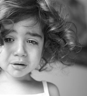 Cry like a child. They don't care what it makes them look like weak, scared, helpless etc. It really just lets others know they need help for the simplest things. That they were helpless or maybe they didn't even know why they were crying, but they cried and someone came running to help.