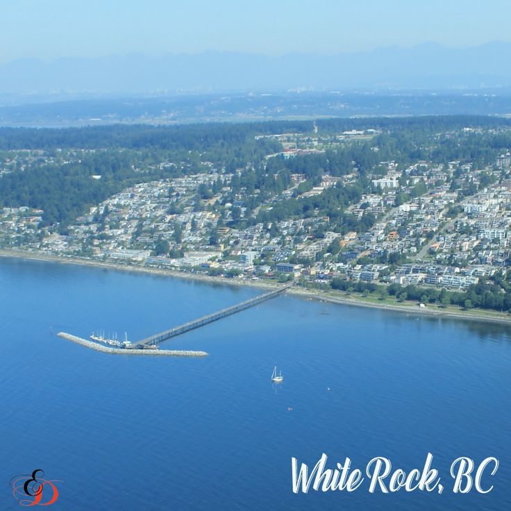 I was lucky to be flying over White Rock on a beautiful day to capture this.