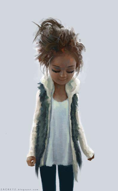 Someone hasn't brushed her hair this morning. (art by Zac Retz)