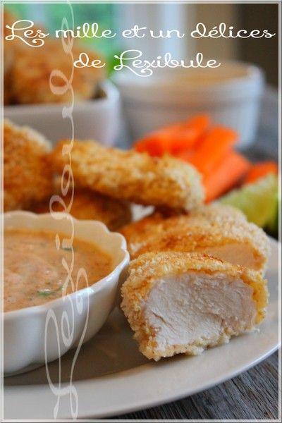 les milles & un délices de ~lexibule~: ~Croquettes de poulet au four, sauce ranch à la co...