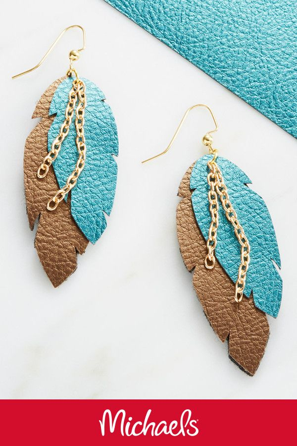Lightweight Drop earrings Ear Wires Silver leaf shaped charm Leaf shaped Bluish green Stainless Steel Teal leather earrings Bold