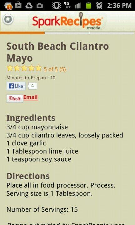 Cilantro garlic sauce from pollo tropical