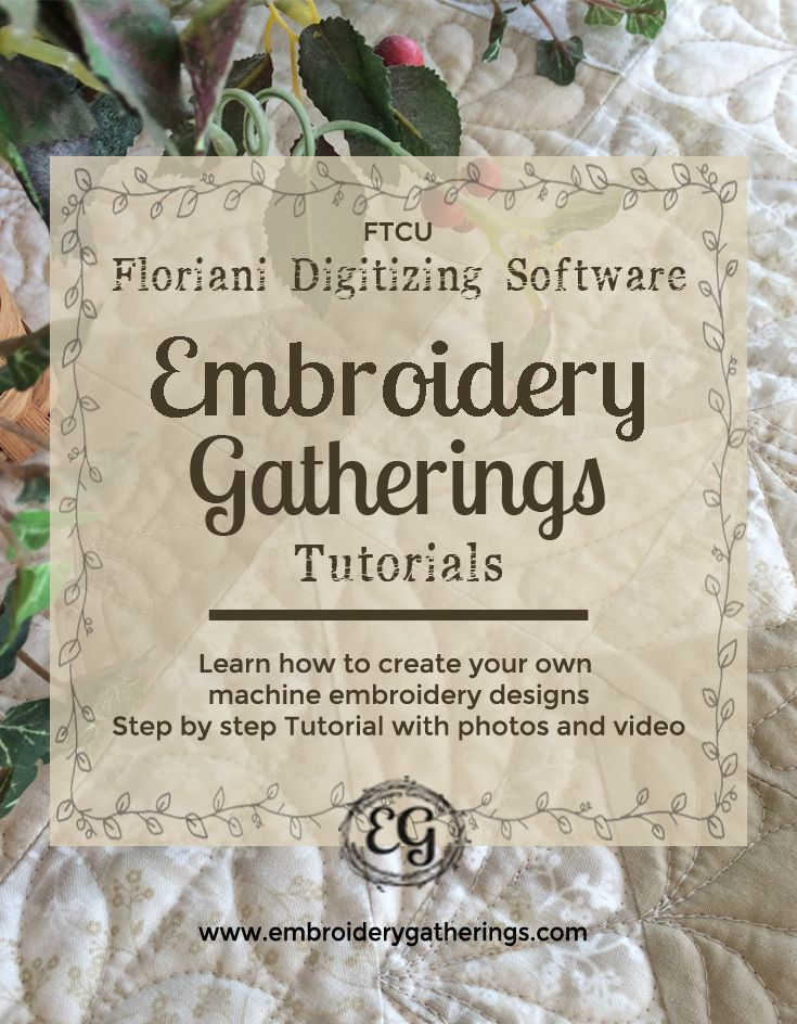 Learn Embroidery Digitizing with Floriani FTCU embroidery software. Step by step…