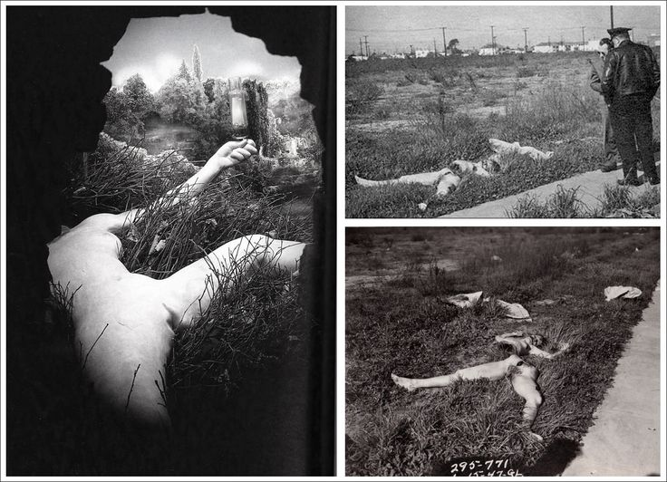 Duchamp's Etant Donnes and Black Dahlia crime scene photos)