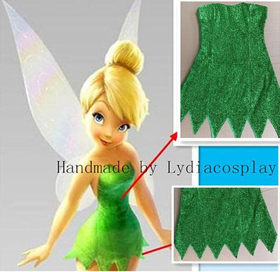Handmade  Tinker bell Kostüm Tinkerbell Kostüm Tinkerbell