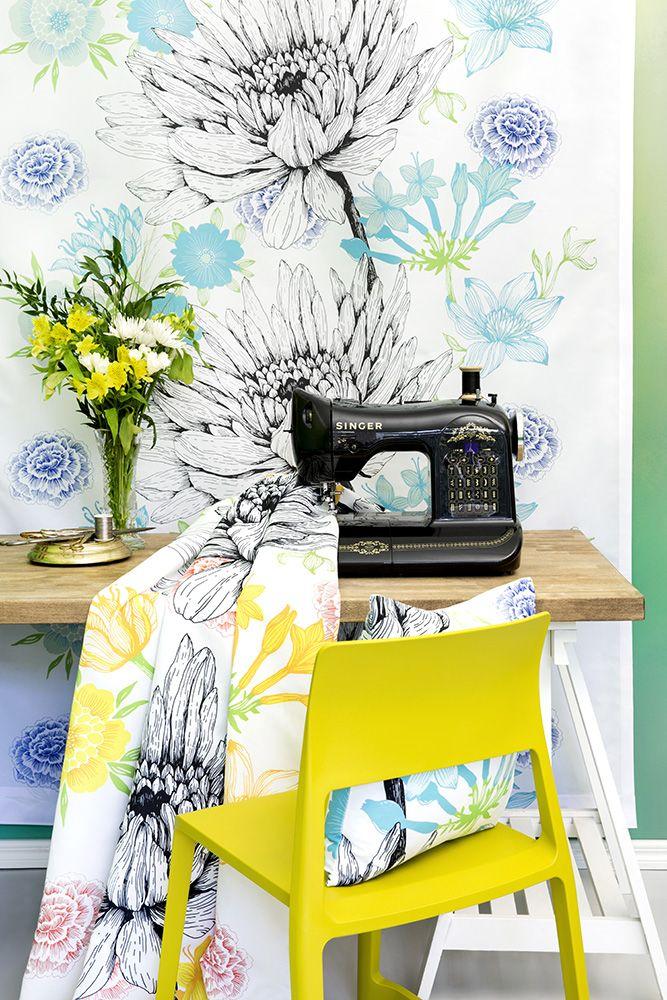 Verano curtains and cushion by Tanja Orsjoki