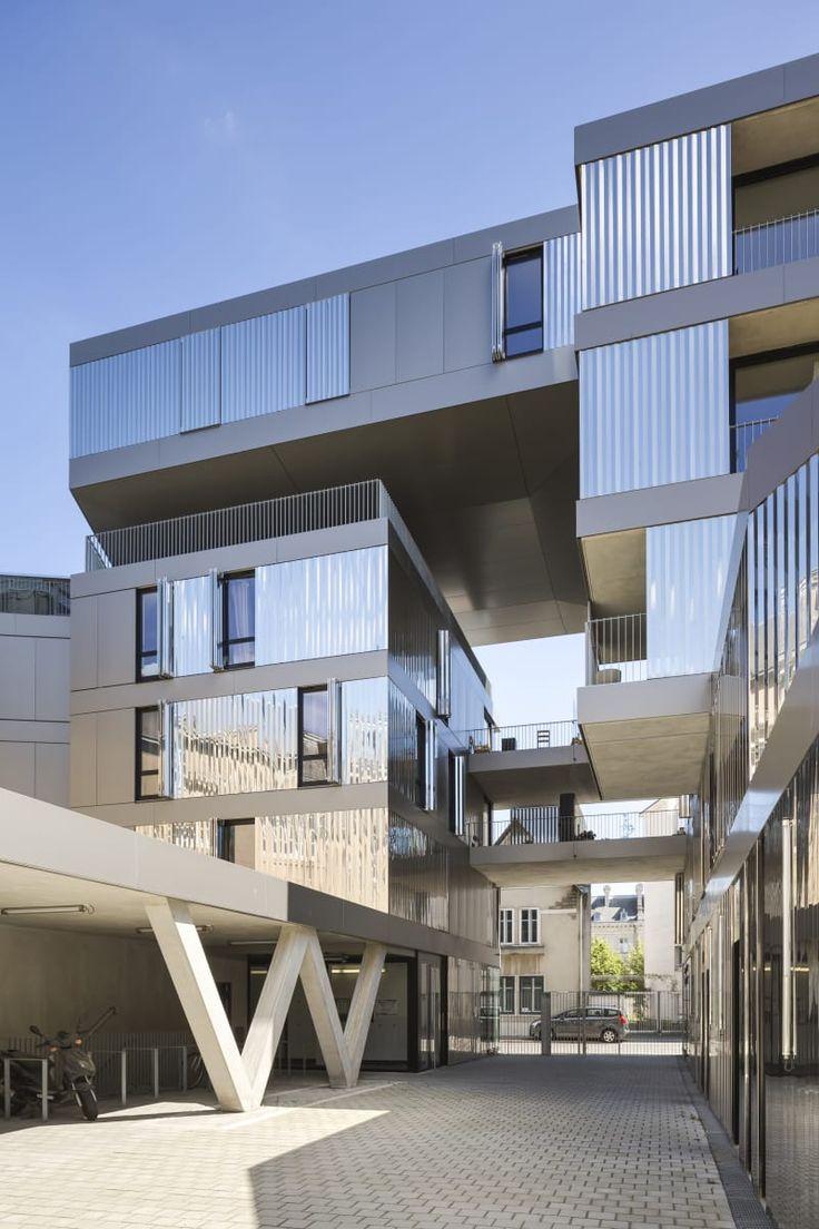 Philippe Dubus Architectes, Michel Denancé, Sergio Grazia · HOUSING + NURSERY SCHOOL + OFFICES, CENTRAL NANTES