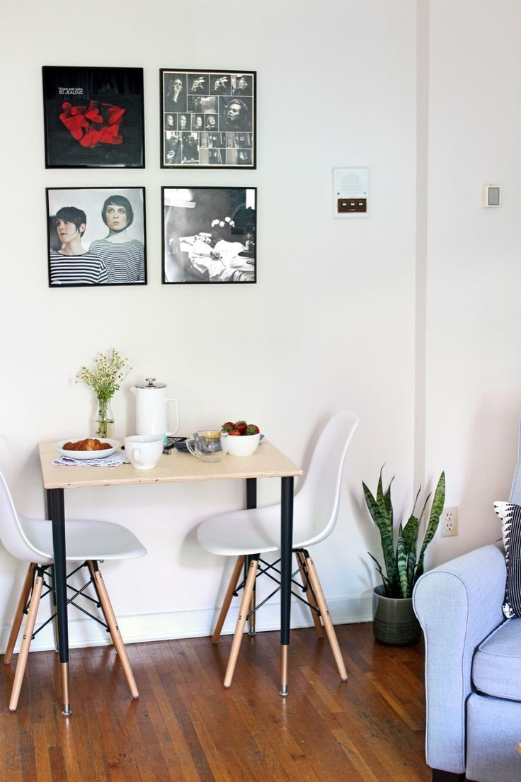 How I built a table small enough for my tiny apartment.  #sponsored @homedepot