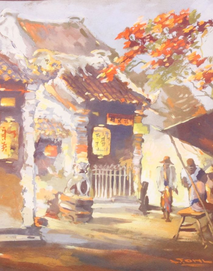 Frits Lucien Ohl (1904-1976) - Indisch markttafereel