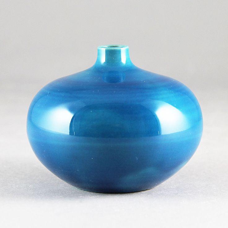 Carl-Harry Stalhane (SPB 1950s) Turquoise Swelling Vase
