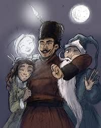 Nightlight, North, Katherine, and Ombric from The guardians of childhood.