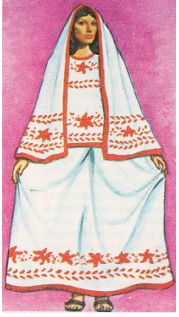 traditional regional costume of the state of Colima