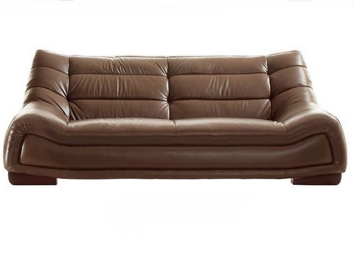 Leather Sofa Modern sofa with leather upholstery