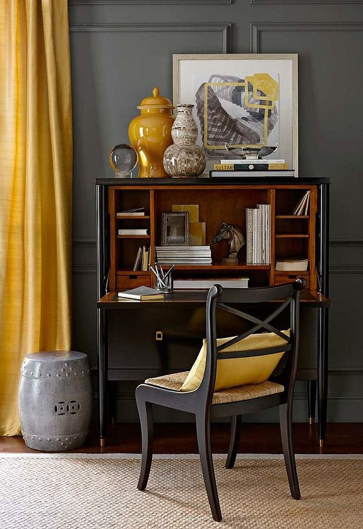 Best Ideas About Gray Home Offices On Pinterest Blue Home - Home furniture design
