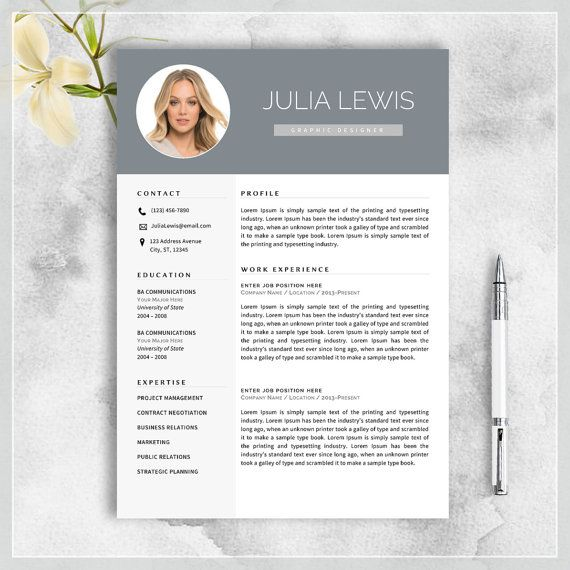 Creative Resume Template CV Template for MS by cvtemplatesbydesign