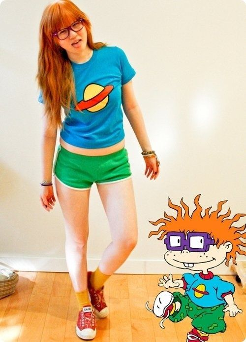 Chuckie from Rugrats costume! @Candice Crawford should totally do this