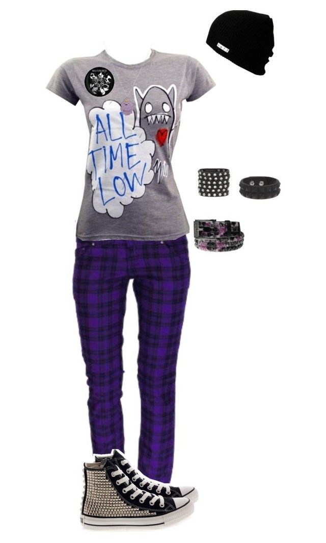 """Untitled #708"" by death-to-your-heart ❤ liked on Polyvore featuring Converse, Bullet and Neff"