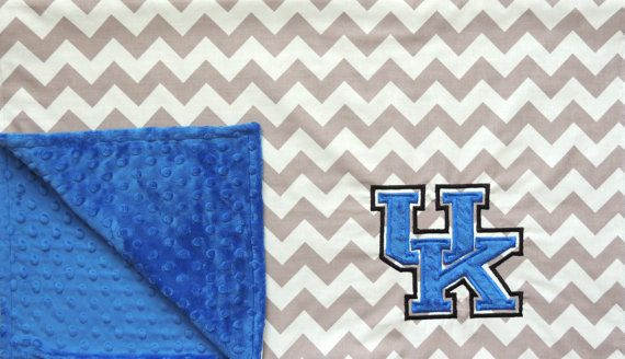 University of Kentucky Minky Baby Blanket by jamnjelli on Etsy, $38.00