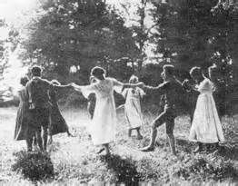 In Europe, from 1896–1908, a German youth movement known as Wandervogel began to grow as a countercultural reaction to the organized social and cultural clubs that centered around German folk music. In contrast to these formal clubs, Wandervogel emphasized amateur music and singing, creative dress, and communal outings involving hiking and camping.