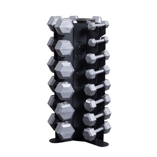 GDR80 5-50lb. SDX Hex Dumbbell Package  GDR80SDX550 - Rack plus 5-50lb. Hex Dumbbell Set, Discounted Package, Commercial Warranty!
