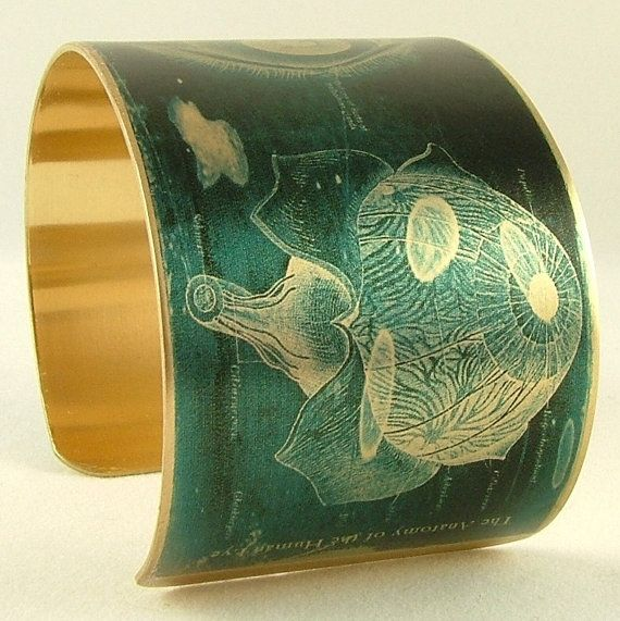 Anatomy of the Human Eye Brass Cuff Bracelet - Opthamologist Jewelry - Medical Eyeball Diagram on Etsy, $40.00
