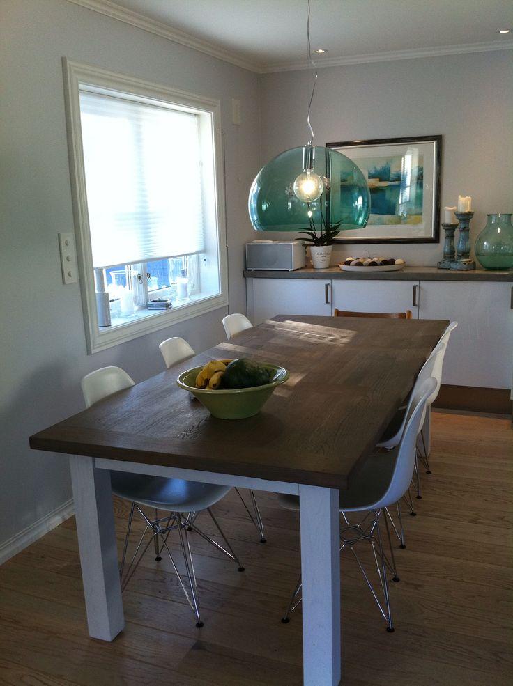 Nytt Ikea kjøkken med betong benkeplate