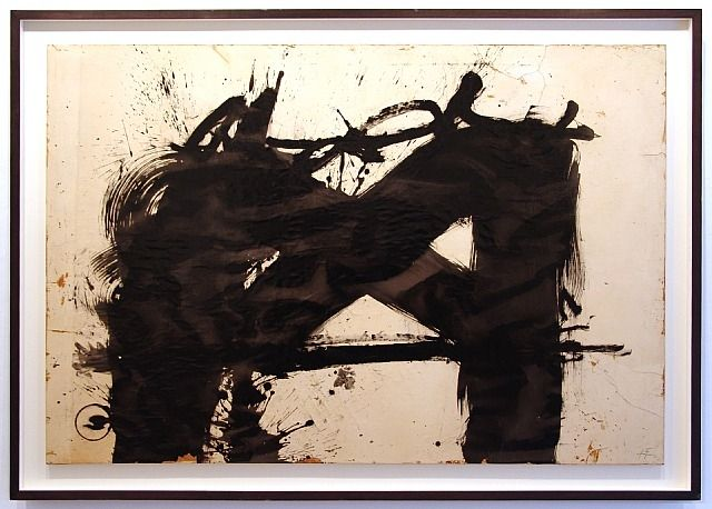 artnet Galleries: Gran signo negro by Antoni Tàpies from Fernández-Braso