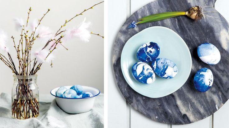 Gör ett fint påskris eller dekorera ägg med nagellack!